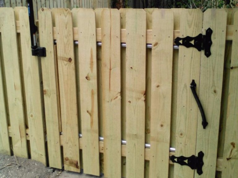 retaining fence natural pressure treated wood