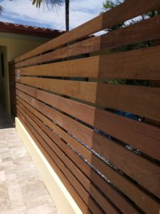 wooden fenced yard in tamarac