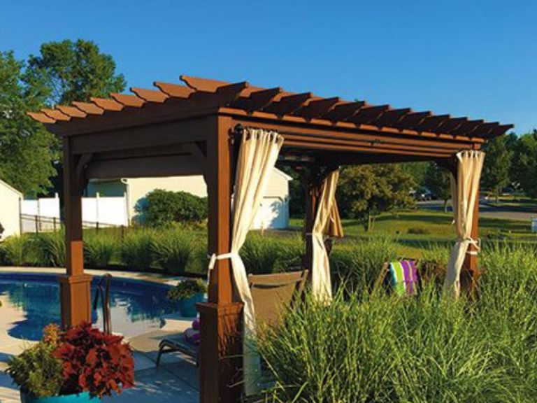 pergola next to pool in south florida