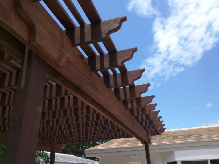 roof close up of pergola
