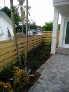 garden border wood fence fort lauderdale