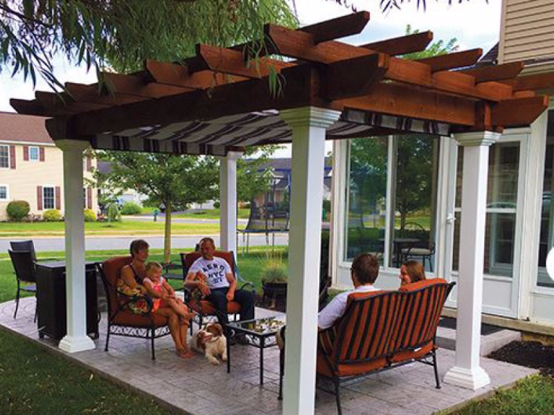 shade seating pergola
