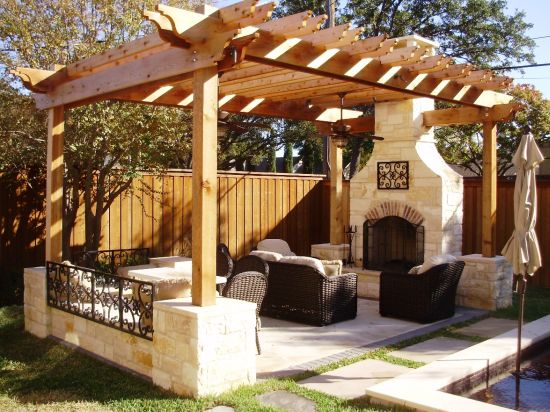 beautiful wooden pergola