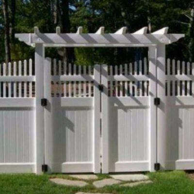 PVC Fence with Pergola trim
